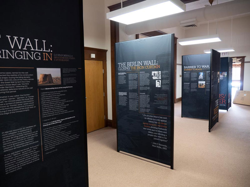 Upland® LEK® display used in 'A History of Walls' exhibit