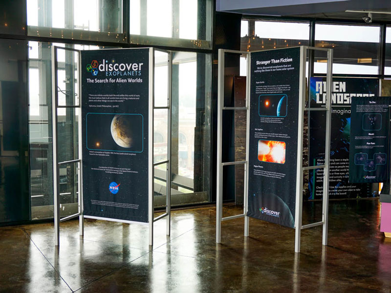 Upland® LEK® display elements in the 'Exoplanets' traveling exhibit