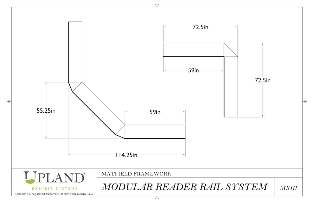 Modular Reader Rail Dimensions