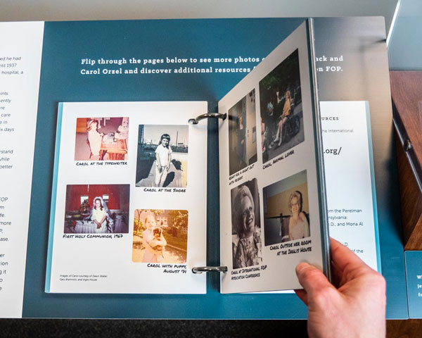 Upland Exhibit Systems - Mutter Museum u-bolt flipbook interactive